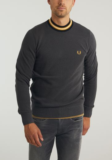 Fred Perry Striped Neck Jumper