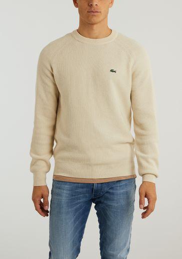 Lacoste High Collar Wool