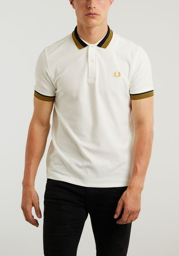 Fred Perry Striped Collar Polo