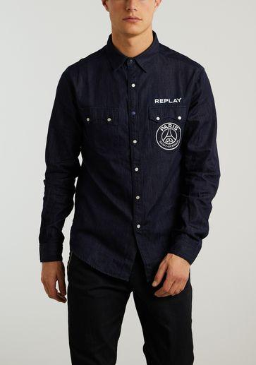 Replay Denim Shirt PSG