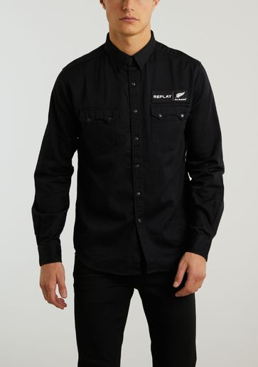Replay Denim Shirt Blacks