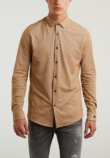 Cast Iron Long Sleeve Shirt Jersey Pique Oxford