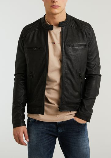 ZIP JACKET SHEEP DOUBLE DYED OILY