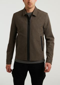 Cast Iron Zip jacket mini check